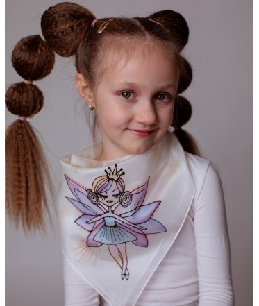 Purple Fairy Hand Painted Kids Silk Shawl