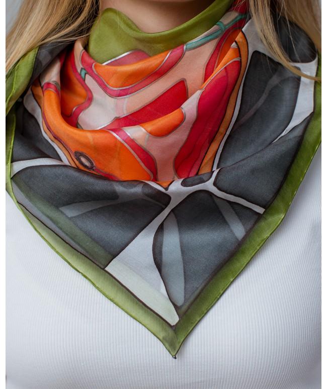 Apples Hand Painted Silk Shawl