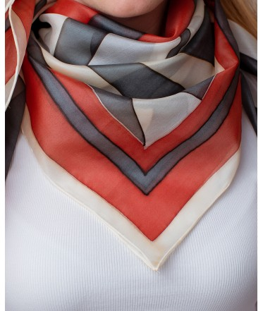 Japanese style Hand Painted Silk Shawl