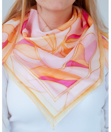 Abstraction Hand Painted Silk Shawl