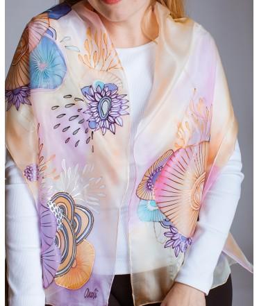 Abstarction (1) Hand Painted Silk Scarf
