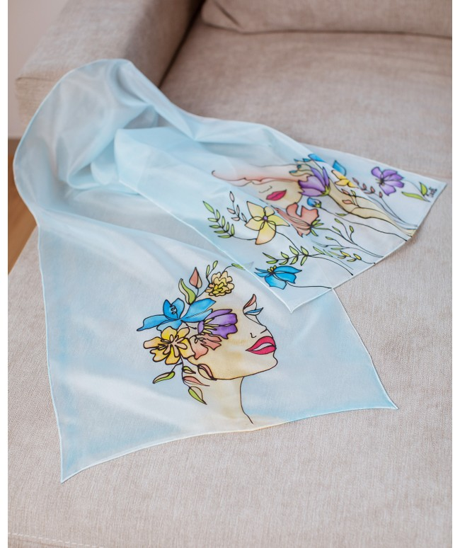 Beauty 2 Hand Painted Silk Scarf