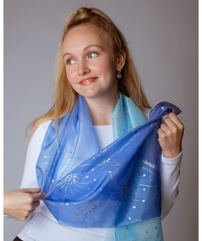 Salute Hand Painted Silk Scarf